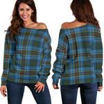 TartanClans Cockburn Modern  Women's Off Shoulder Sweater