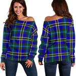 TartanClans Weir Modern  Women's Off Shoulder Sweater