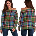 TartanClans Stirling & Bannockburn District  Women's Off Shoulder Sweater