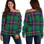 TartanClans Young Modern  Women's Off Shoulder Sweater