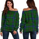 TartanClans Henderson Modern  Women's Off Shoulder Sweater
