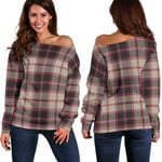 TartanClans Macpherson Hunting Ancient  Women's Off Shoulder Sweater