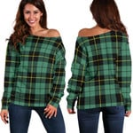 TartanClans Wallace Hunting Ancient  Women's Off Shoulder Sweater