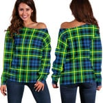 TartanClans Campbell Of Breadalbane Ancient  Women's Off Shoulder Sweater