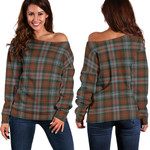 TartanClans Murray Of Atholl Weathered  Women's Off Shoulder Sweater