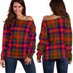 TartanClans Gow Modern  Women's Off Shoulder Sweater