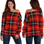 TartanClans Marjoribanks  Women's Off Shoulder Sweater