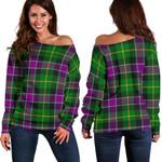 TartanClans Selkirk  Women's Off Shoulder Sweater