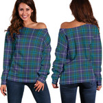 TartanClans Douglas Modern  Women's Off Shoulder Sweater
