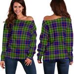 TartanClans Ayrshire District  Women's Off Shoulder Sweater