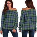 TartanClans Macdonnell Of Glengarry Ancient  Women's Off Shoulder Sweater
