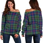 TartanClans Wood Modern  Women's Off Shoulder Sweater