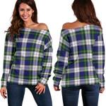TartanClans Gordon Dress Modern  Women's Off Shoulder Sweater