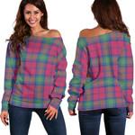 TartanClans Lindsay Ancient  Women's Off Shoulder Sweater