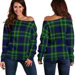 TartanClans Macneil Of Colonsay Modern  Women's Off Shoulder Sweater