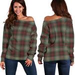 TartanClans Scott Brown Ancient  Women's Off Shoulder Sweater