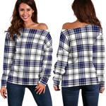TartanClans Hannay Modern  Women's Off Shoulder Sweater