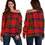 TartanClans Nicolson Modern  Women's Off Shoulder Sweater