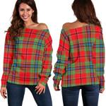 TartanClans Maclean Of Duart Modern  Women's Off Shoulder Sweater