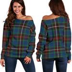 TartanClans Fraser Hunting Ancient  Women's Off Shoulder Sweater