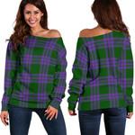 TartanClans Elphinstone  Women's Off Shoulder Sweater