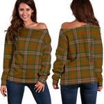 TartanClans Scott Brown Modern  Women's Off Shoulder Sweater