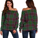 TartanClans Crosbie  Women's Off Shoulder Sweater