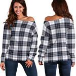 TartanClans Macrae Dress Modern  Women's Off Shoulder Sweater