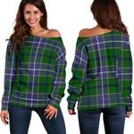 TartanClans Wishart Hunting Modern  Women's Off Shoulder Sweater
