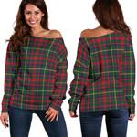 TartanClans Mackintosh Hunting Modern  Women's Off Shoulder Sweater