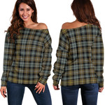 TartanClans Campbell Argyll Weathered  Women's Off Shoulder Sweater