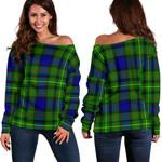 TartanClans Rollo Modern  Women's Off Shoulder Sweater
