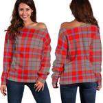 TartanClans Moubray  Women's Off Shoulder Sweater