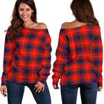 TartanClans Fraser Modern  Women's Off Shoulder Sweater