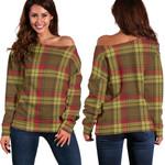 TartanClans Macmillan Old Weathered  Women's Off Shoulder Sweater