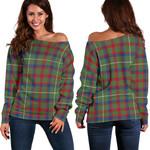 TartanClans Shaw Green Modern Women's Off Shoulder Sweater
