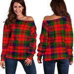 TartanClans Macnaughton Modern  Women's Off Shoulder Sweater