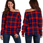 TartanClans Maclachlan Modern  Women's Off Shoulder Sweater