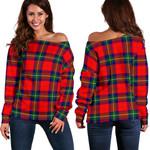 TartanClans Ruthven Modern  Women's Off Shoulder Sweater