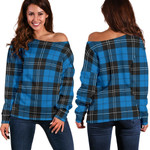 TartanClans Ramsay Blue Ancient  Women's Off Shoulder Sweater