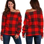 TartanClans Wemyss Modern  Women's Off Shoulder Sweater
