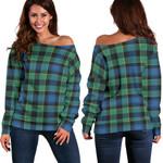 TartanClans Mouat  Women's Off Shoulder Sweater