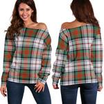 TartanClans Macduff Dress Ancient  Women's Off Shoulder Sweater