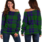 TartanClans Lockhart Modern  Women's Off Shoulder Sweater