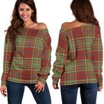 TartanClans Macgillivray Hunting Ancient  Women's Off Shoulder Sweater