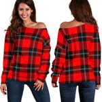 TartanClans Ramsay Modern  Women's Off Shoulder Sweater