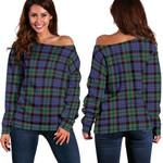 TartanClans Fletcher Modern  Women's Off Shoulder Sweater