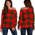 TartanClans Kerr Modern  Women's Off Shoulder Sweater