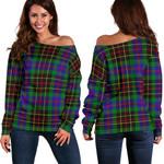 TartanClans Brodie Hunting Modern  Women's Off Shoulder Sweater