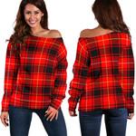 TartanClans Maciver Modern  Women's Off Shoulder Sweater